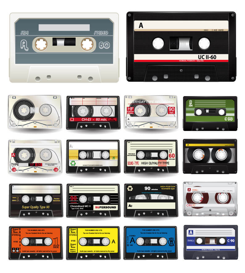 Thinking Outside The Sandbox: Business Audio-Cassettes-Vector-Collection 10 Best FREE Retro Fonts All Posts Blogging Small Business TOTS Business  retro free font free fonts
