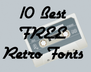10 best free retro fonts