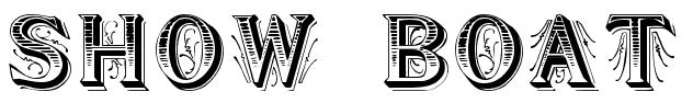 show boat font