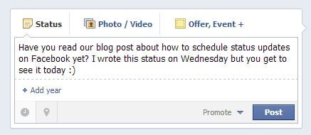 how to schedule a post on facebook picture 2