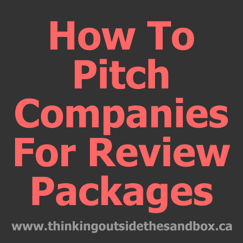 How to pitch companies for review packages?