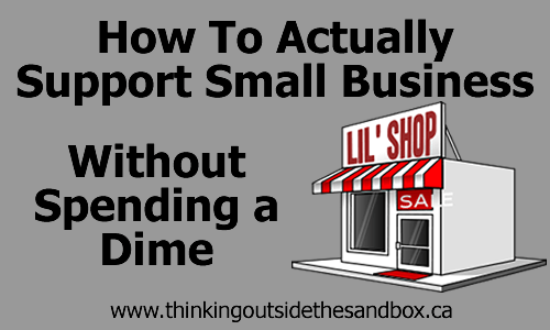 I know many of you shop small and good for you and this is how to supporting small businesses.