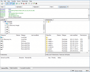 How to set up filezilla step 7
