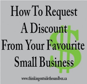how to request a discount from your favourite small business