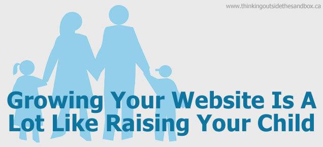 growing your website is a lot like raising your child