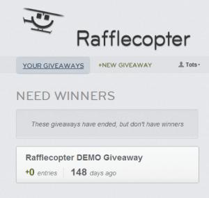 add a new giveaway rafflecopter