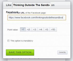add giveaway option facebook