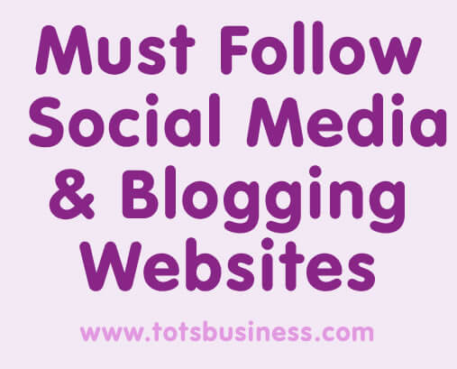 must follow social media and blogging websites