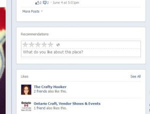 On some Facebook Pages, there's an awesome Facebook Recommendations box, and you can even rate by stars!