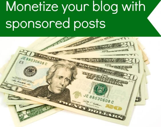monetize your blog with sponsored posts