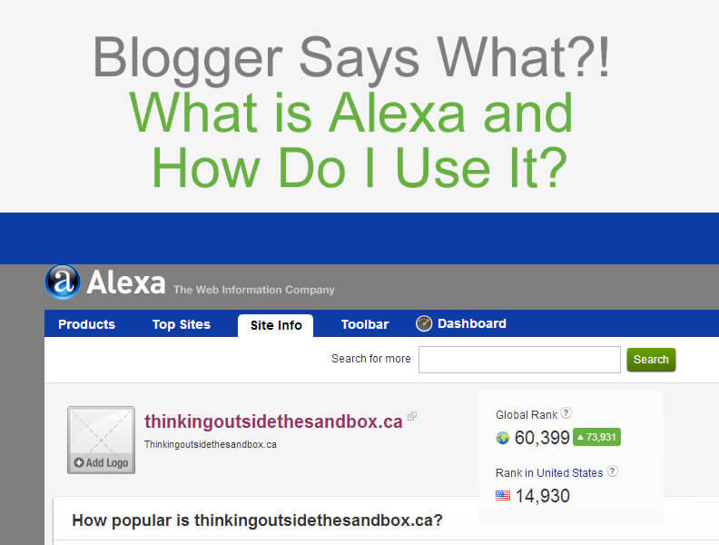 Thinking Outside The Sandbox: Business What-is-Alexa-and-How-Do-I-Use-It Blogger Says What?! What is Alexa and How Do I Use It? All Posts Blogging  blogging advice blogging blogger alexa