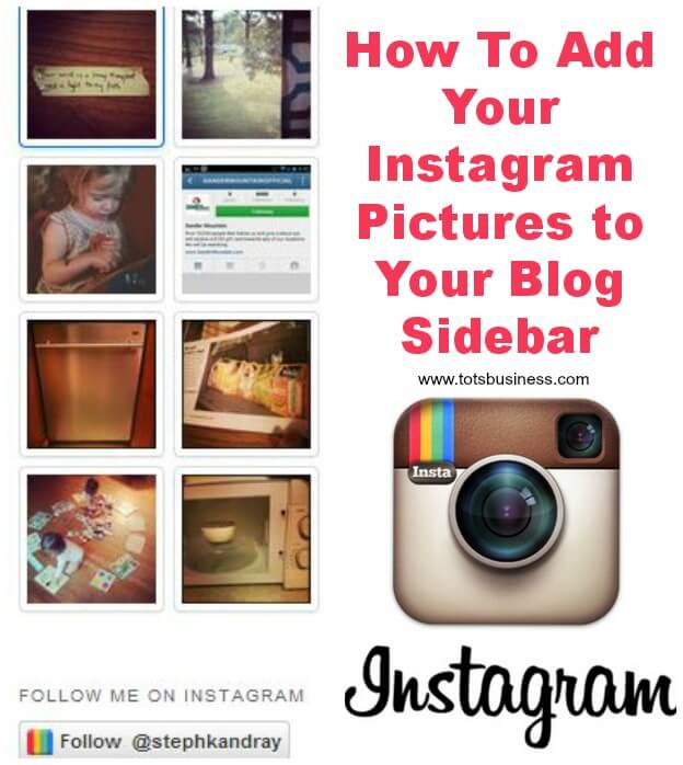 Thinking Outside The Sandbox: Business How-to-Add-your-Instagram-Pictures-to-your-Blog-Sidebar How To Add Your Instagram Photos to your Blog Sidebar All Posts Blogging Social Media  sidebar instagram blogging blogger blog