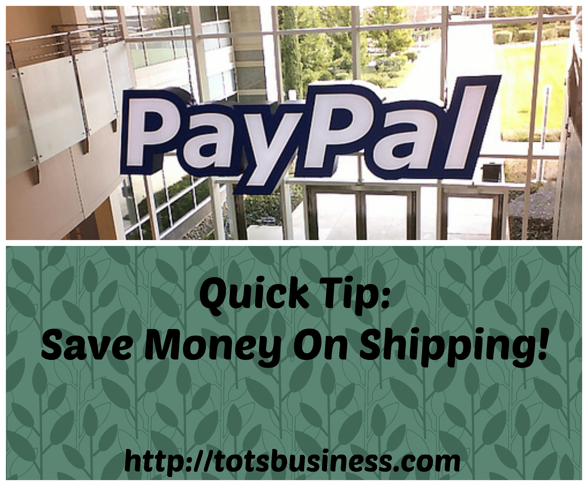 Thinking Outside The Sandbox: Business Paypal-quick-tip Quick Tip: Save Money On Shipping! All Posts Finances  usps ups small business save on shipping paypal ship now paypal fedex cheapest shipping canada post