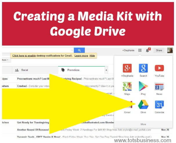 Thinking Outside The Sandbox: Business Creating-a-Media-Kit-with-Google-Drive Creating a Media Kit with Google Drive All Posts Blogging  pr mom blog media kit blogger paid blogger