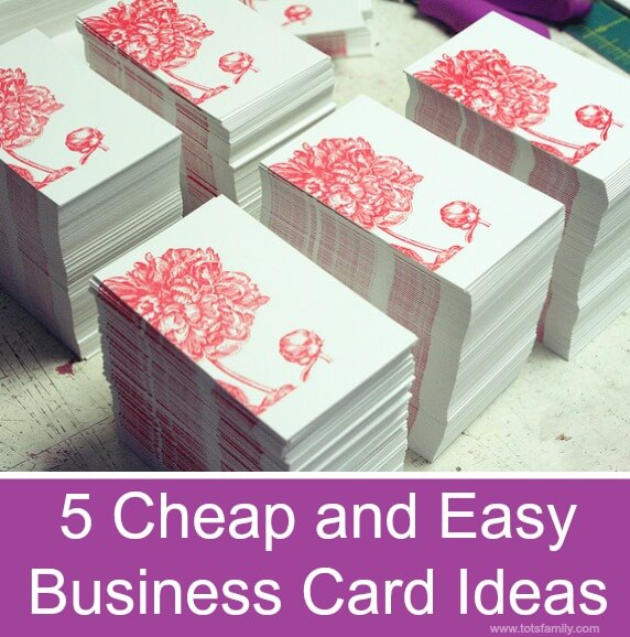 Thinking Outside The Sandbox: Business 5-Cheap-and-Easy-Business-Card-Ideas- 5 Cheap and Easy Business Card Ideas All Posts Blogging Small Business TOTS Business  small business frugal dit cheap business cards blog
