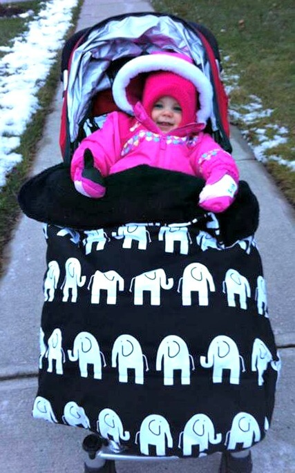 Thinking Outside The Sandbox: Business Baby-Ellie-Stroller-Cover Baby Ellie Designs Advertorial All Posts Small Business  stroller ring sling custom Baby Ellie Designs