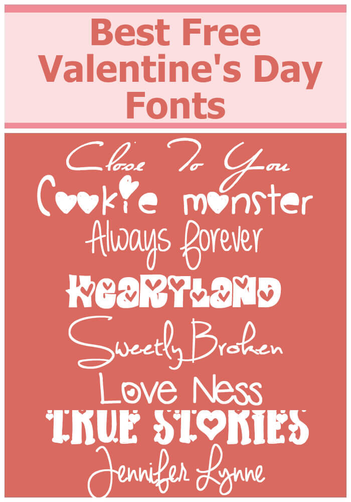 Using these best free Valentine's day fonts is a great way to celebrate and reflect it in your advertising and web media.