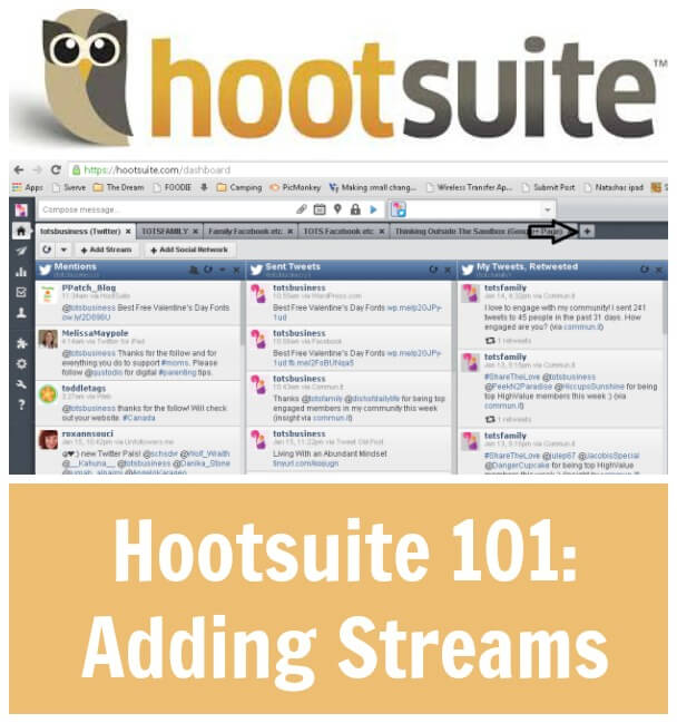 Thinking Outside The Sandbox: Business Hootsuite-101-Adding-Streams Hootsuite 101: Adding Streams All Posts Social Media  twitter social media hootsuite Facebook dashboard connecting