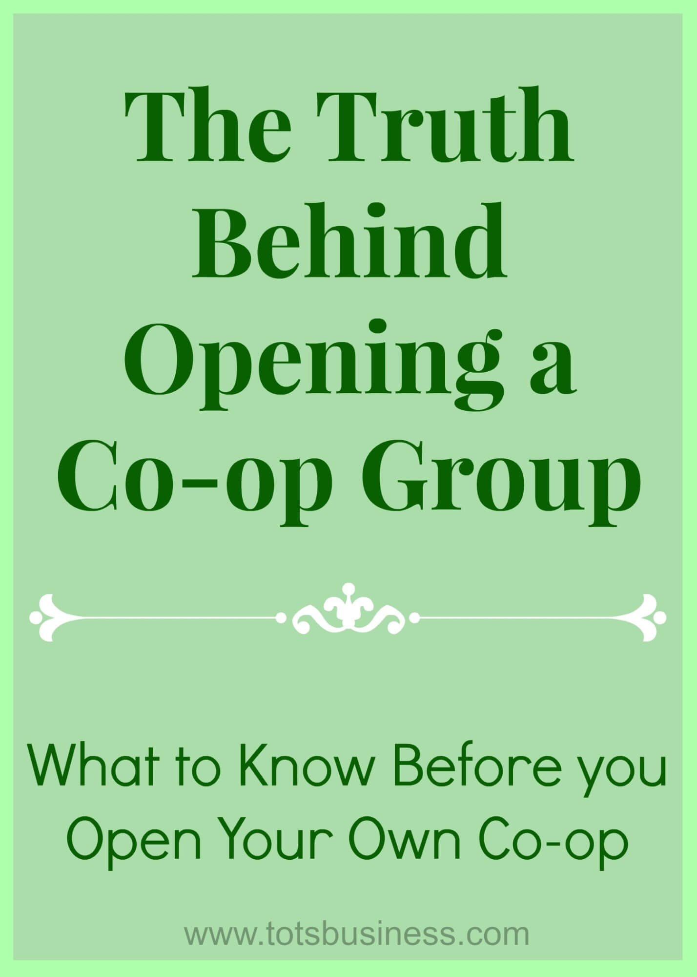 The Truth Behind Running a Co-op Group