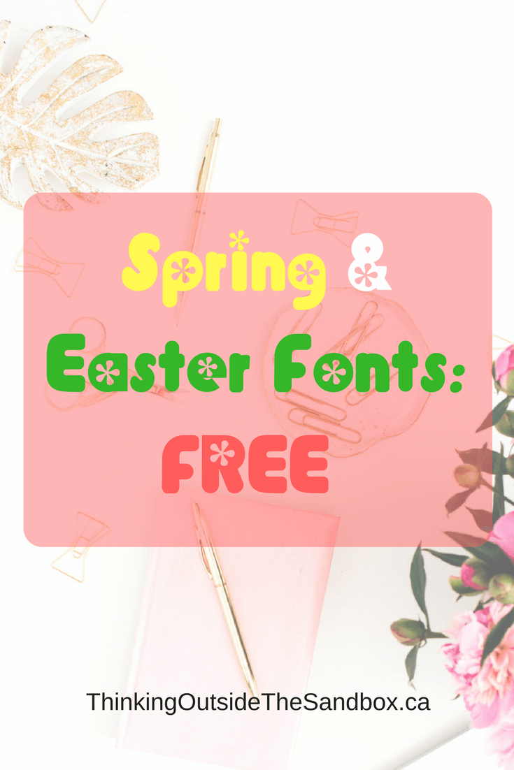 Best FREE Spring and Easter Fonts