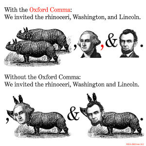 Thinking Outside The Sandbox: Business oxford-comma-in-use-300x300 To Use, or Not To Use, the Oxford Comma All Posts Blogging  oxford comma how to gramar