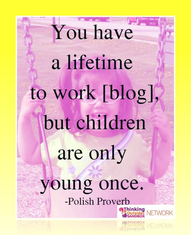 Thinking Outside The Sandbox: Business balance4 Tips on How to Balance Blogging and Family in the Summertime All Posts Blogging  work/life balance wahm summer mom blog blogging blogger blog balance
