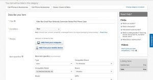 How to List Your First Item for Sale on Ebay