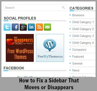 Thinking Outside The Sandbox: Business wpsidebar How to Fix a Sidebar That Moves or Disappears in WordPress All Posts Blogging  wordpress wahm sidebar blogging blog