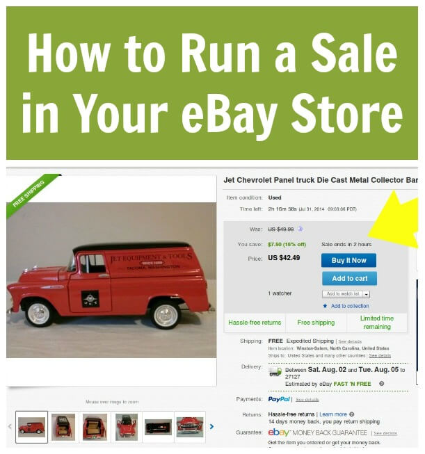 How To Run A Sale In Your Ebay Store Thinking Outside The Sandbox Business