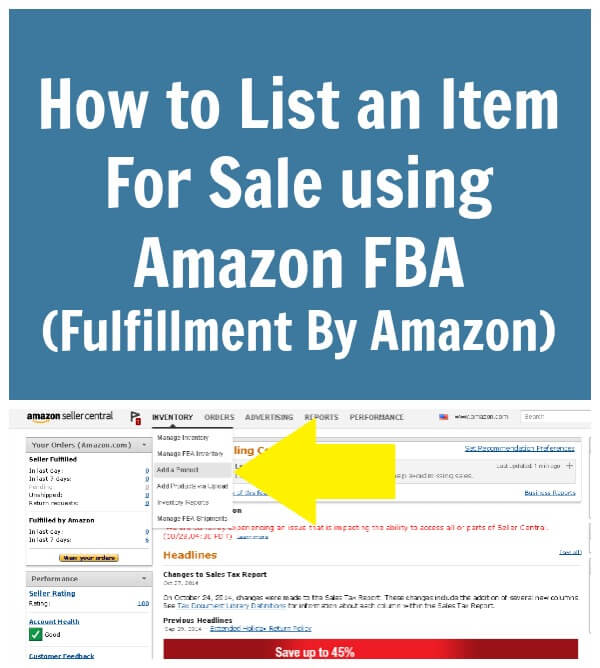 Thinking Outside The Sandbox: Business How-to-List-an-Item-For-Sale-using-Amazon-FBA-Fulfillment-By-Amazon How to List an Item For Sale using Amazon FBA (Fulfillment By Amazon) All Posts Free eBooks Small Business Social Media TOTS Business  sell online sell on amazon sell fba ecommerce ebay amazon seller amazon