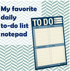 Thinking Outside The Sandbox: Business to-do-list-notepad-295x300 Tis the Season to Declutter Your Home Office and Boost Your Productivity All Posts Small Business  organized blogger home office
