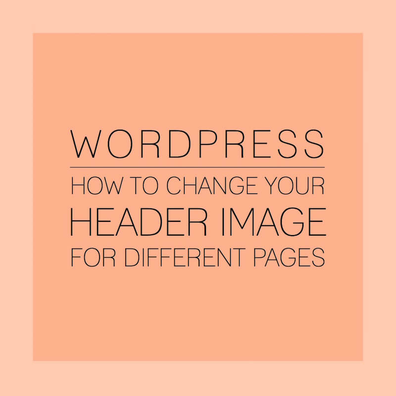 how to change headers in pages