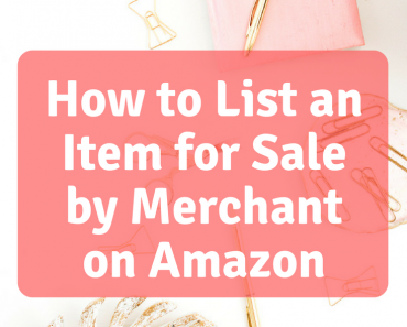 I previously talked to you about listing items for sale on Amazon using the FBA system so now we will talk about How to List an Item for Sale by Merchant on Amazon.