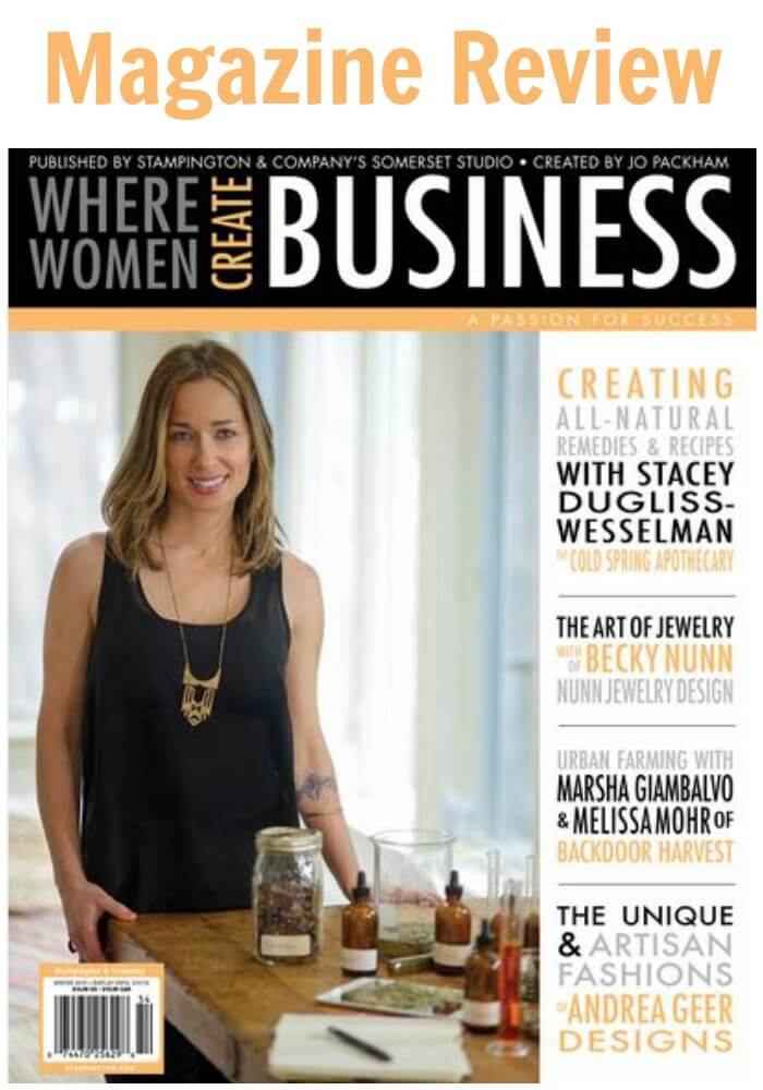 Thinking Outside The Sandbox: Business Magazine-Review-Where-Women-Create-Business Magazine Review - Where Women Create BUSINESS All Posts Small Business  women create business review product magazine business blog