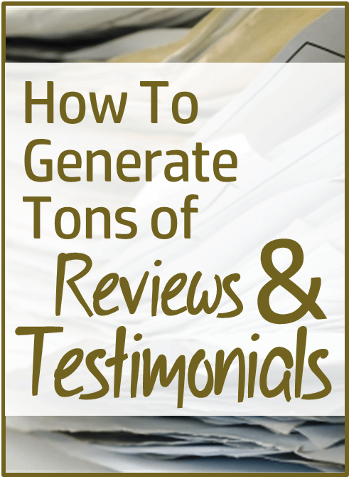 Thinking Outside The Sandbox: Business how-to-generate-tons-of-testimonials How to Generate Tons of Reviews and Testimonials All Posts Small Business  testimonials reviews improve service customers