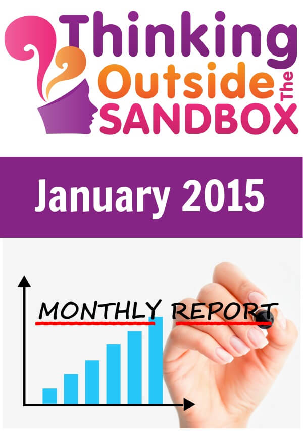 Thinking Outside The Sandbox: Business January-2015-Income-Report-Report-1 January 2015 Income Report - Report 1 Blogging TOTS Business  income report blogging for money blog