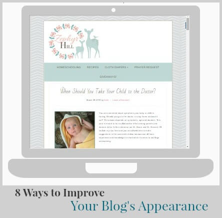 8 Ways to Improve Your Blog's Appearance