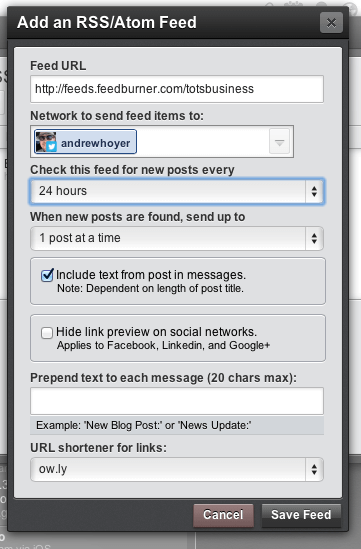 Automating Social Media Posts Using RSS Feeds
