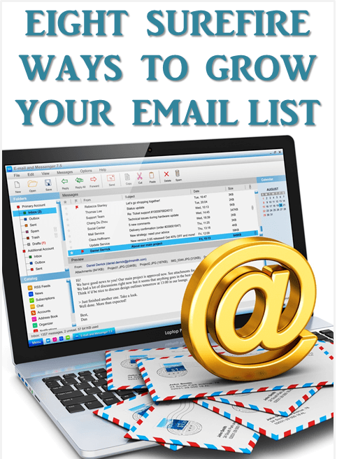 Thinking Outside The Sandbox: Business 8-ways-to-grow-your-email-list 8 Surefire Ways to Grow Your Email List Blogging Small Business TOTS Business  list building email marketing