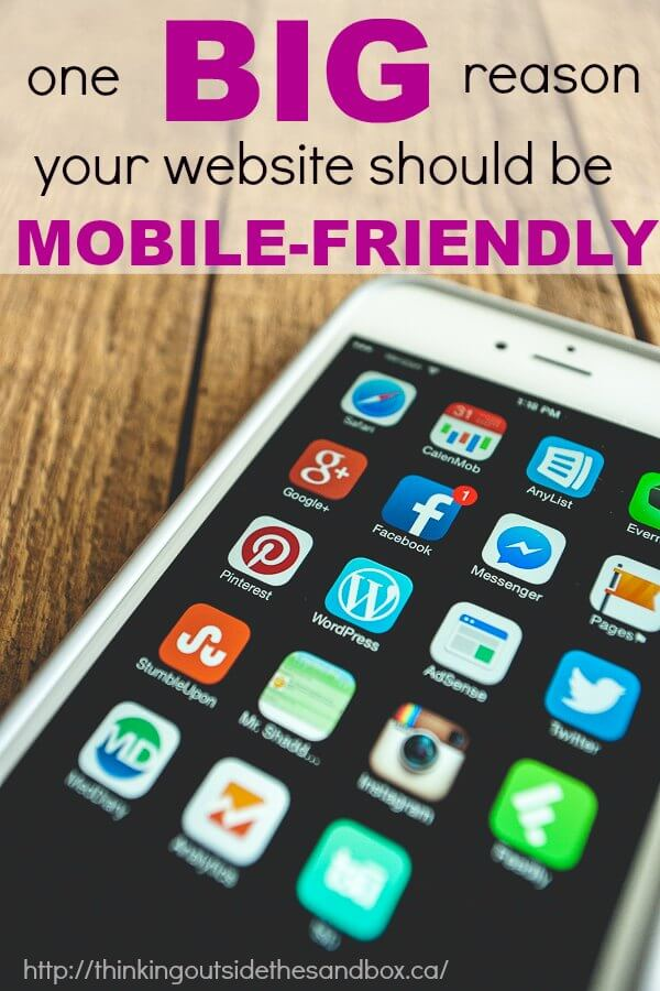 Thinking Outside The Sandbox: Business MOBILE-FRIENDLY One Big Reason that Your Website is Mobile Friendly All Posts Blogging Small Business TOTS Business  mobile friendly google