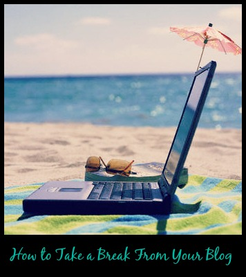 Thinking Outside The Sandbox: Business laptop How to Blog When You're on Vacation Blogging TOTS Business  vacation break blogging Blog Vacation blog