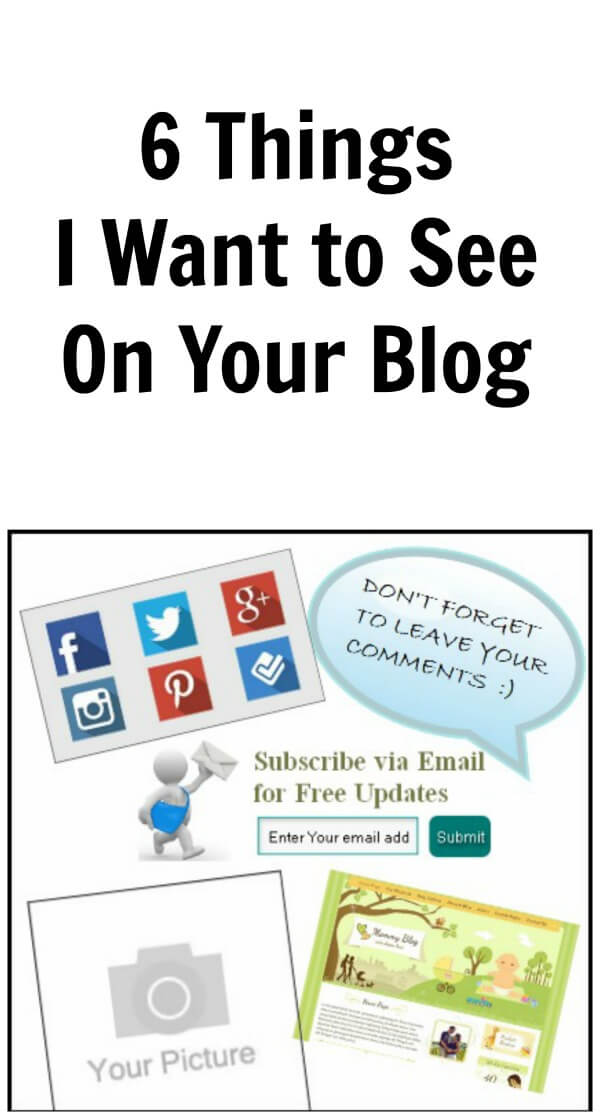 Thinking Outside The Sandbox: Business 6things 6 Things I Want to See on Your Blog Blogging TOTS Business  blogging bloggers blog