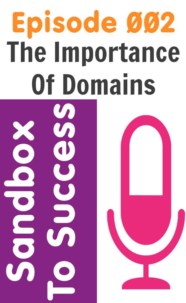 Sandbox To Success Episode 002 - The Importance Of Domains