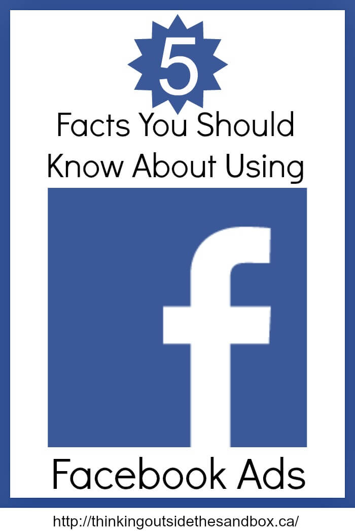 Thinking Outside The Sandbox: Business facebook-tots Five Facts You Should Know About Using Facebook Ads All Posts Blogging Small Business Social Media TOTS Business  tips social media facebook tips Facebook