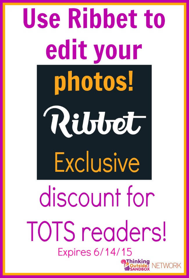 Thinking Outside The Sandbox: Business ribbet How to Use Ribbet to Edit Your Images + Exclusive Discount for TOTS Readers All Posts TOTS Business  ribbet images editor