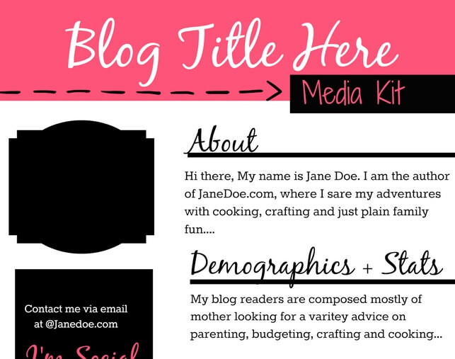 Thinking Outside The Sandbox: Business kit1 Need a Media Kit? Try These 5 Easy Ideas! Blogging TOTS Business