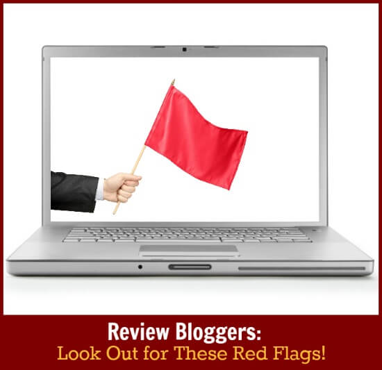 Thinking Outside The Sandbox: Business lookout Review Bloggers: Look Out for These Red Flags! Blogging TOTS Business