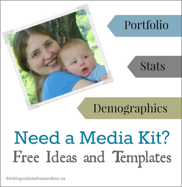 Thinking Outside The Sandbox: Business mediakits Need a Media Kit? Try These 5 Easy Ideas! Blogging TOTS Business