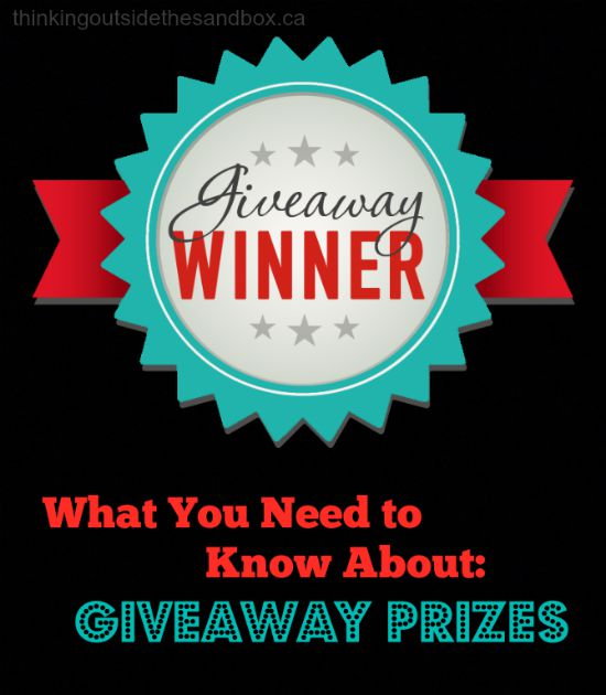 Thinking Outside The Sandbox: Business prizes What You Need to Know About Giveaway Prizes Blogging Small Business TOTS Business  giveaway blogging