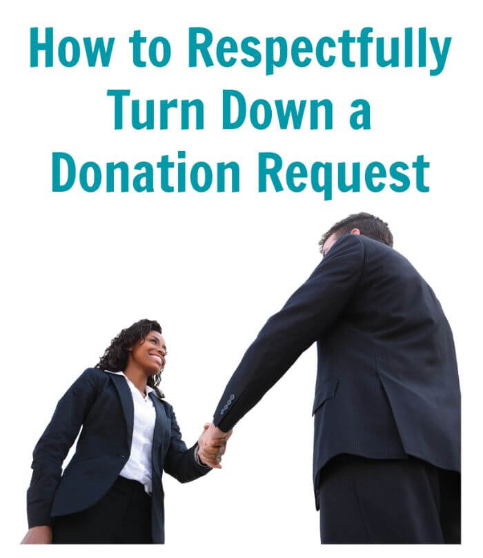 How to Respectfully Turn Down a Donation Request | Thinking Outside